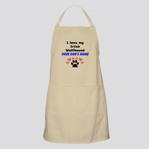 Custom I Love My Irish Wolfhound Apron